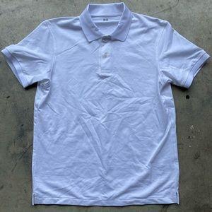 UNIQLO White Short Sleeve Polo Shirt